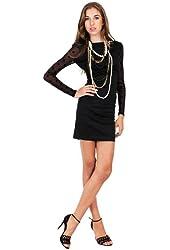 G2 Fashion Square Women's Open Back Sheer Polkadot Dress