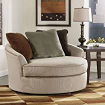 Big Sale Laken Mocha Oversized Swivel Accent Chair