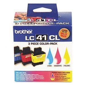 Brother LC41 Color 3 Pack 1 each Cyan, Magenta, Yellow