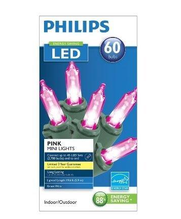 Philips Energy Saving Led 60 Pink Mini Lights