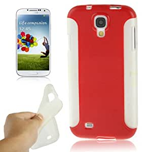 Crazy4Gadget 2 in 1 Anti-skid (Plastic + TPU ) Combination Case for Samsung Galaxy S IV / i9500 (Red)