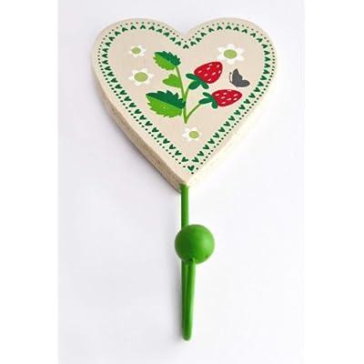 Gisela Graham Summer Garden Strawberry Heart Hook Decoration