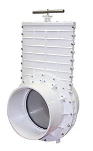 "Valterra 6912 PVC Gate Valve, White, 12"" Slip by Valterra Products"