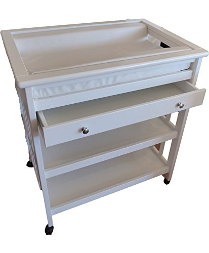 Baby Changing Table Plus baby Changing Pad (White)