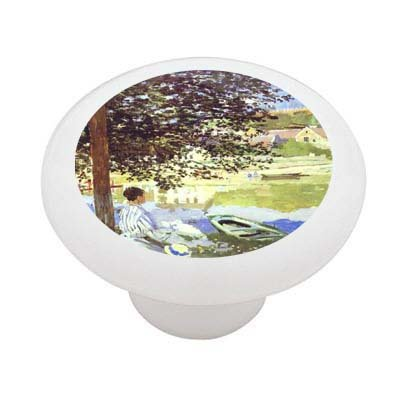 The River By Monet Decorative High Gloss Ceramic Drawer Knob front-995039
