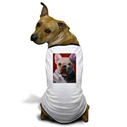 CafePress French Bulldog Painting Dog T-Shirt - M White made by CafePress