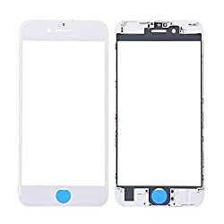 Grade A+ iPhone 6s Plus Front Glass + Bezel Frame, Universal Buying(TM) Repair Front Fitted LCD Replacement Outer Glass Lens Touch Screen Digitizer Protective Cover+ Free Tools (White)