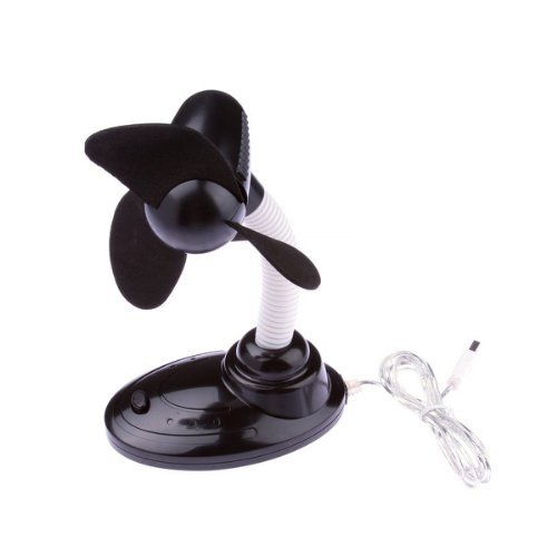 Black Mini USB Desk Fan Compact For PC Laptop Cool Cooling Fan