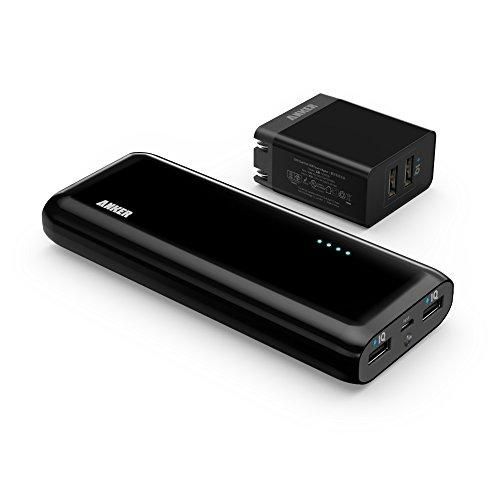 【Amazon.co.jp限定】Anker Astro E5 第2世代 16000mAh モバイルバッテリー & Anker 20W 2ポート USB急速充電器 充電セット iPhone / iPad / iPod / Xperia / Galaxy / Nexus 他対応 【PowerIQ搭載 x2】 A120801A