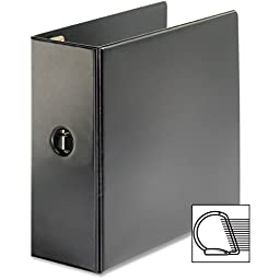 Cardinal Brands- Inc CRD18762CB D-Ring Binder- 5in. Capacity- 11in.x8-.50in.- Black