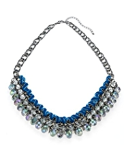 Per Una Velvet Wrap, Stone & Multi-Faceted Bead Collar Necklace