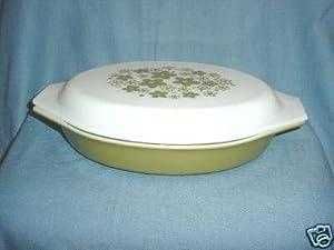 Pyrex Oval 1 Quart Divided Baking Dish