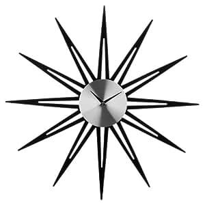 Premier Housewares Star Mirrored Wall Clock - Metal