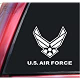 U.S. Air Force Vinyl Decal Sticker - White