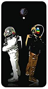 Timpax Protective Armour Case Cover lightweight construction easily slides in and out of pockets. Multicolour Printed Design : Spacemen.100% Compatible with Micromax A106 Unite 2