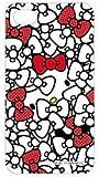 [Softbank iPhone 4専用] ハローキティ キャラクタージャケット(リボン)(SAN-74KTE)