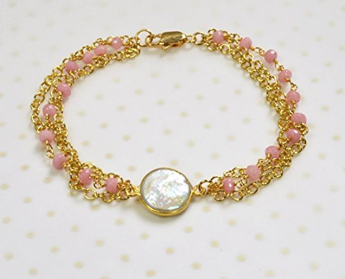 pink-chalcedony-and-gold-plated-chain-multi-strand-bracelet-white-freshwater-cultured-coin-pearl-cen