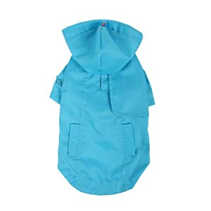 Pinkaholic New York Slicker Raincoat for Dogs, Large, Blue