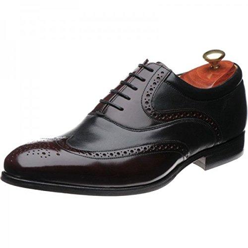 Barker-Bordeaux Hi-Shine/Nappa, colore: nero con lacci scarpe, Rosso