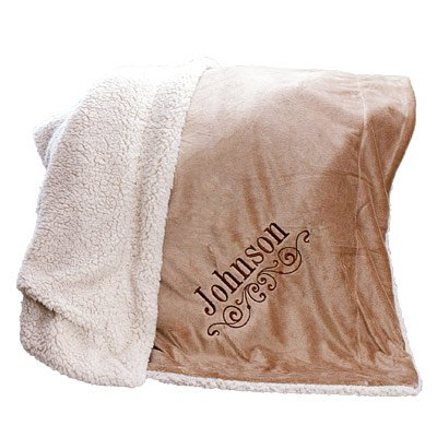 Embroidered Sherpa Blanket (Personalized Throw Blankets compare prices)