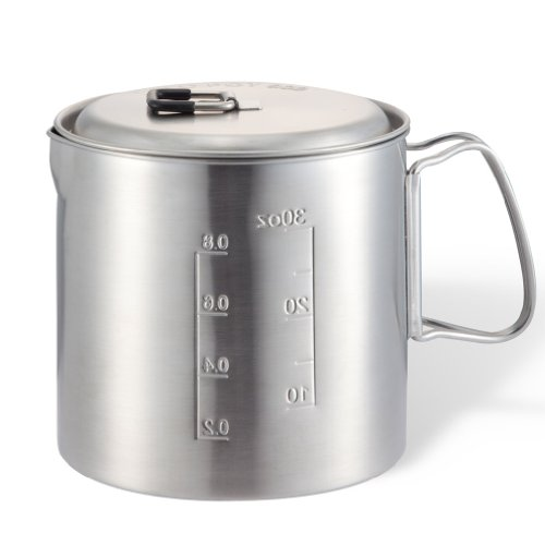 Solo Pot 900: Lightweight Stainless Steel Backpacking Pot for Solo Stove and Other Backpacking & Camping Stoves (Stainless Steel Pot Hiking compare prices)