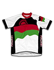 Malawi Flag Short Sleeve Cycling Jersey for Women