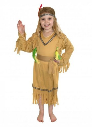 Just For Fun Indian Girl Fancy Dress Costume (Child Size) - Large