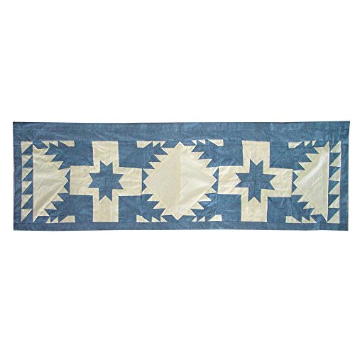 Patch Magic Feathered Star Curtain Valance, 54-Inch by 16-Inch