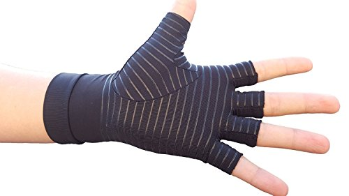 b6fcf86b1b Hand Pain Relief Gloves - Copper Compression Gives Relief Rheumatoid  Arthritis Carpal Tunnel Osteoarthritis Trigger Finger