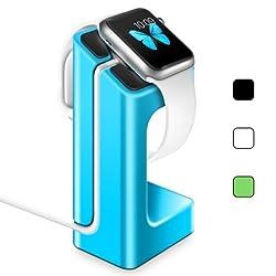 Apple Watch Stand Holder, LoHi Apple Watch iWatch Charging Bracket Docking Station Dock Platform [Updated Version] Charging Stand for Apple Watch 38/42mm Cradle Holder (Blue)