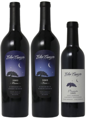 Eden Canyon Vineyards 2005 Mixed Pack, 2 X 750 Ml And 1 X 375 Ml