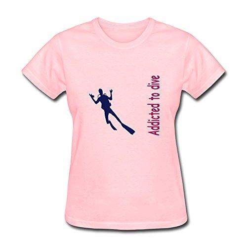 Women'S Diving Slim Fit T Shirt Size Xl Color Pink