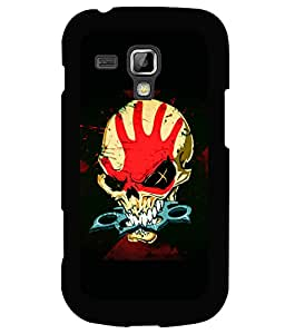 printtech Skull Knuckle Print Back Case Cover for Samsung Galaxy S Duos S7562