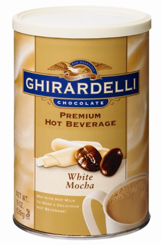 Ghirardelli Chocolate Premium Hot Beverage Mix, White Mocha, 19-Ounce Cans (Pack of 4)