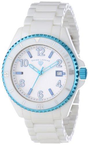 Swiss Legend Men's 11528-WWLBLA Luminar White Dial White Ceramic Watch
