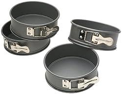 Kaiser Bakeware Mini Springform Pans, Set of 4