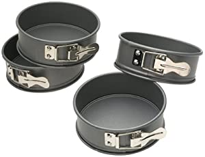Kaiser Bakeware Mini Springform Pans, Set of 4