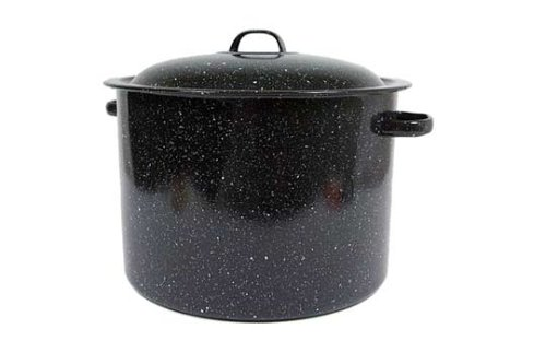 Ware 21 quart covered preserving canner with rack buy granite ware