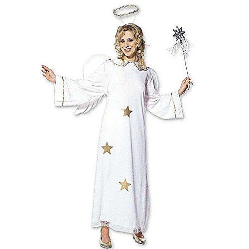 Widmann 35113 - Erwachsenenkostüm Sternenengel, Kleid mit Flügel und Heiligenschein