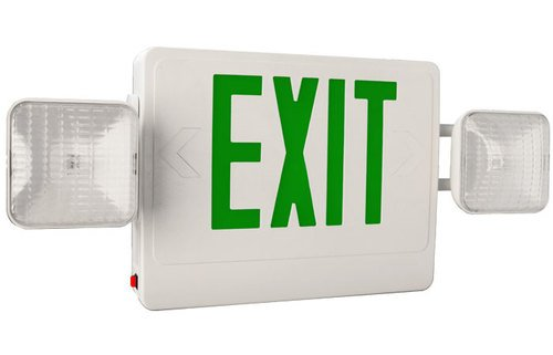 Green Led Exit Sign Combo, Exit-Combo-Tp-G-W, Attractive Stylish Look, Ul 924 Listed For The United States, Works For Single And Double Face Applications, Nfpa, Life Safety 101, Five-Year Warranty On Parts, Best For Your Commercial Or Industrial Applicati