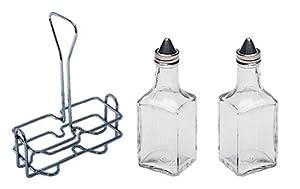 6 oz. (Ounce) Tabletop Oil and Vinegar Cruet Glass Bottle Bottles Cruets Dispenser w... by Update International