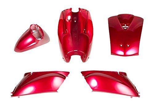バイクパーツセンター トゥデイ 純正タイプ外装セット 5点セット レッド 赤 カウル 塗装済み ホンダ トゥデイ AF61  304501