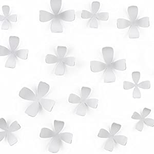 Umbra Wallflower Wall Décor, Set of 25, White