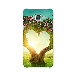 ArtzFolio Heart Shaped Tree : Samsung Galaxy J7 Matte Polycarbonate ORIGINAL BRANDED Mobile Cell Phone Protective BACK CASE COVER Protector : BEST DESIGNER Hard Shockproof Scratch-Proof Accessories
