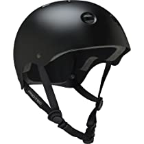 Pro-tec Classic Skate Plus Satin Skateborad Helmet, Black, Medium
