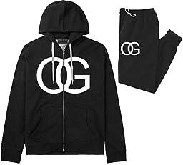 Kings Of NY OG Original Gangsta Mens Sweat Suit Hoodie Pants Black XX-Large