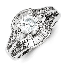 Genuine IceCarats Designer Jewelry Gift Sterling Silver Cz Ring Set Size 8.00