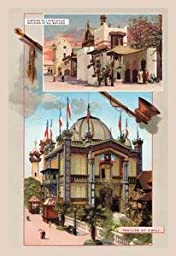30 x 20 Canvas. Building of All Nations and Pavilion of Chili at the Paris Exhibition, 1889