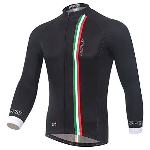 Baymate Unisex Manica Lunga Maglia Ciclismo Antivento Termica Biciclette Abbigliamento M