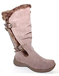 GH Bass Women's Wanda Water Resistant Suede Boots with Faux Fur Lining